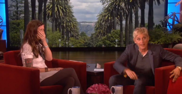Ellen Surprises Sarah Churman Who Was Able to Hear for the First Time.