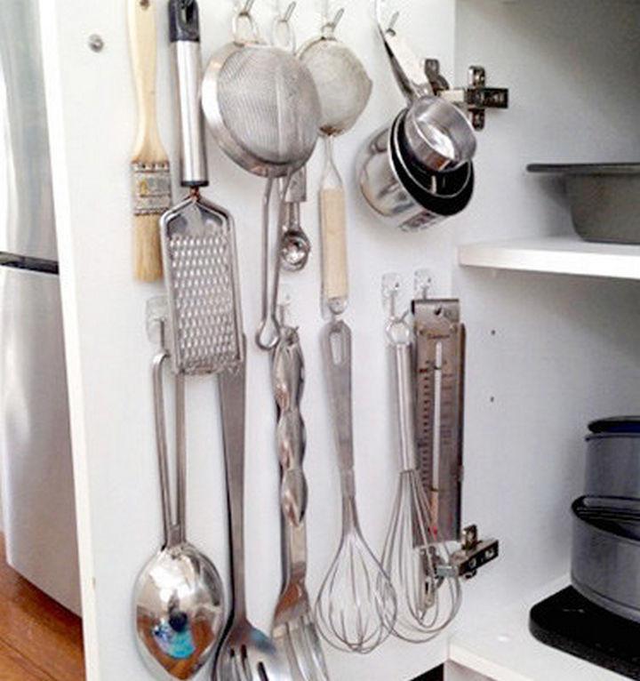Organize all your kitchen utensils.