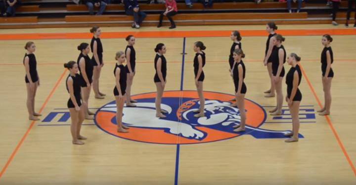 Mahomet-Seymour High School Dance Team Perform Interpretive Dance.