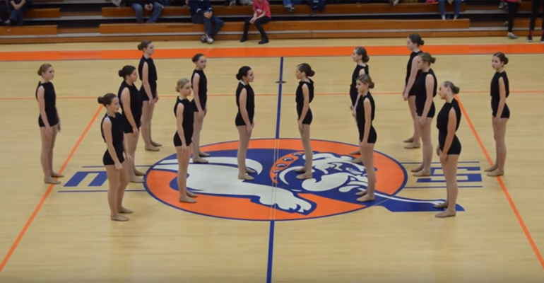 Mahomet-Seymour High School Dance Team Perform Interpretive Dance.
