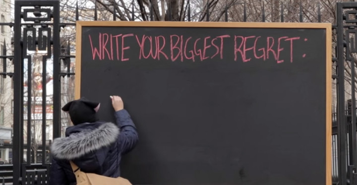 People in New York City Write Down Their Biggest Regret in Life.