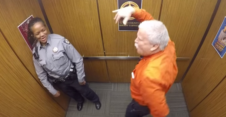 Retiring Officer Dances To Watch Me (WhipNae Nae) in Elevator.