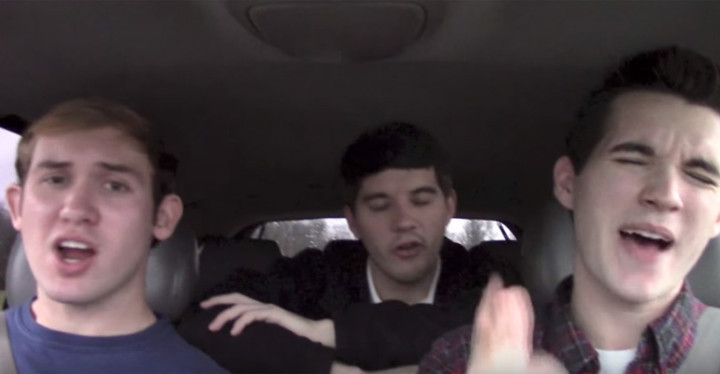 Teenagers Lip Sync the 1962 Hit 'Duke of Earl' in the Car.
