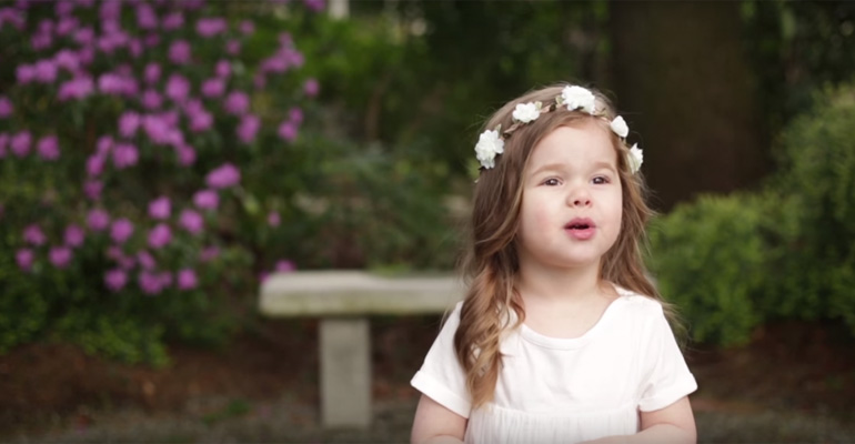 3-Year-Old Claire Sings Easter Song Gethsemane.