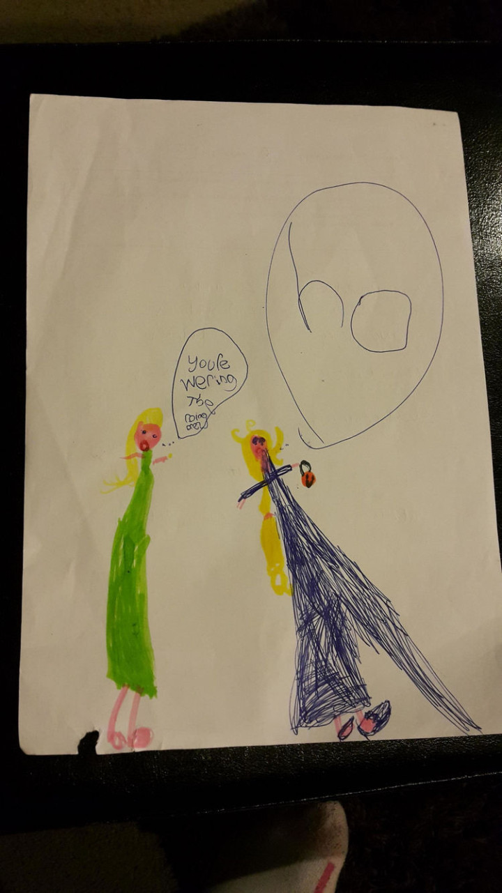 35 Funny Drawings from Kids - That escalated quickly.