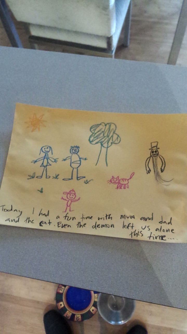 35 Funny Drawings from Kids - I only hope this kid is imagining this!