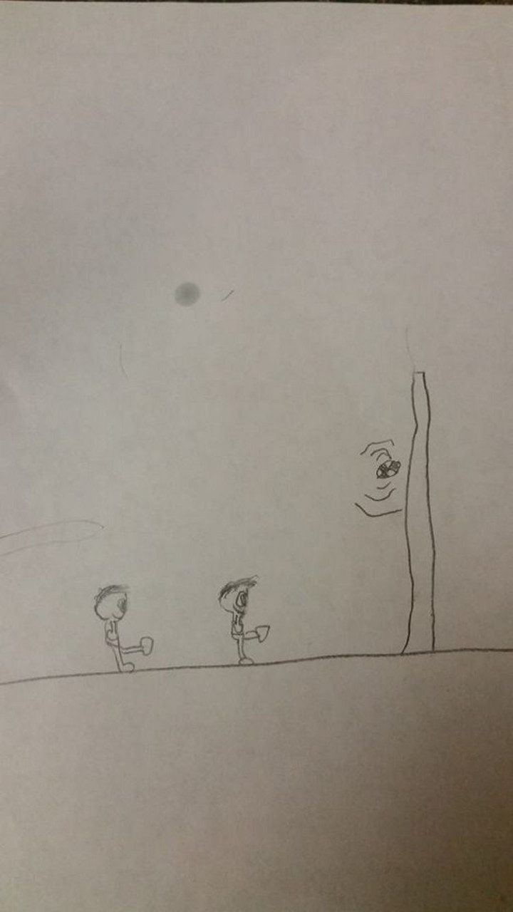 35 Funny Drawings from Kids - What game are these kids playing!?