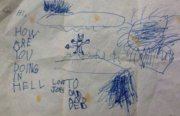 35 Funny Drawings from Kids - This one is a little disturbing!