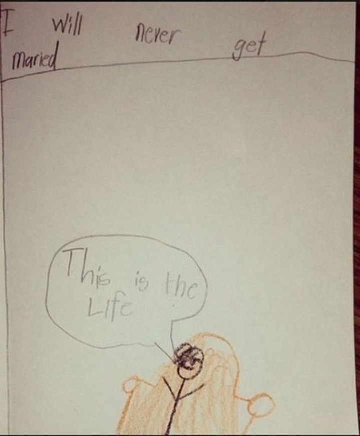 35 Funny Drawings from Kids - This kid likes his freedom.