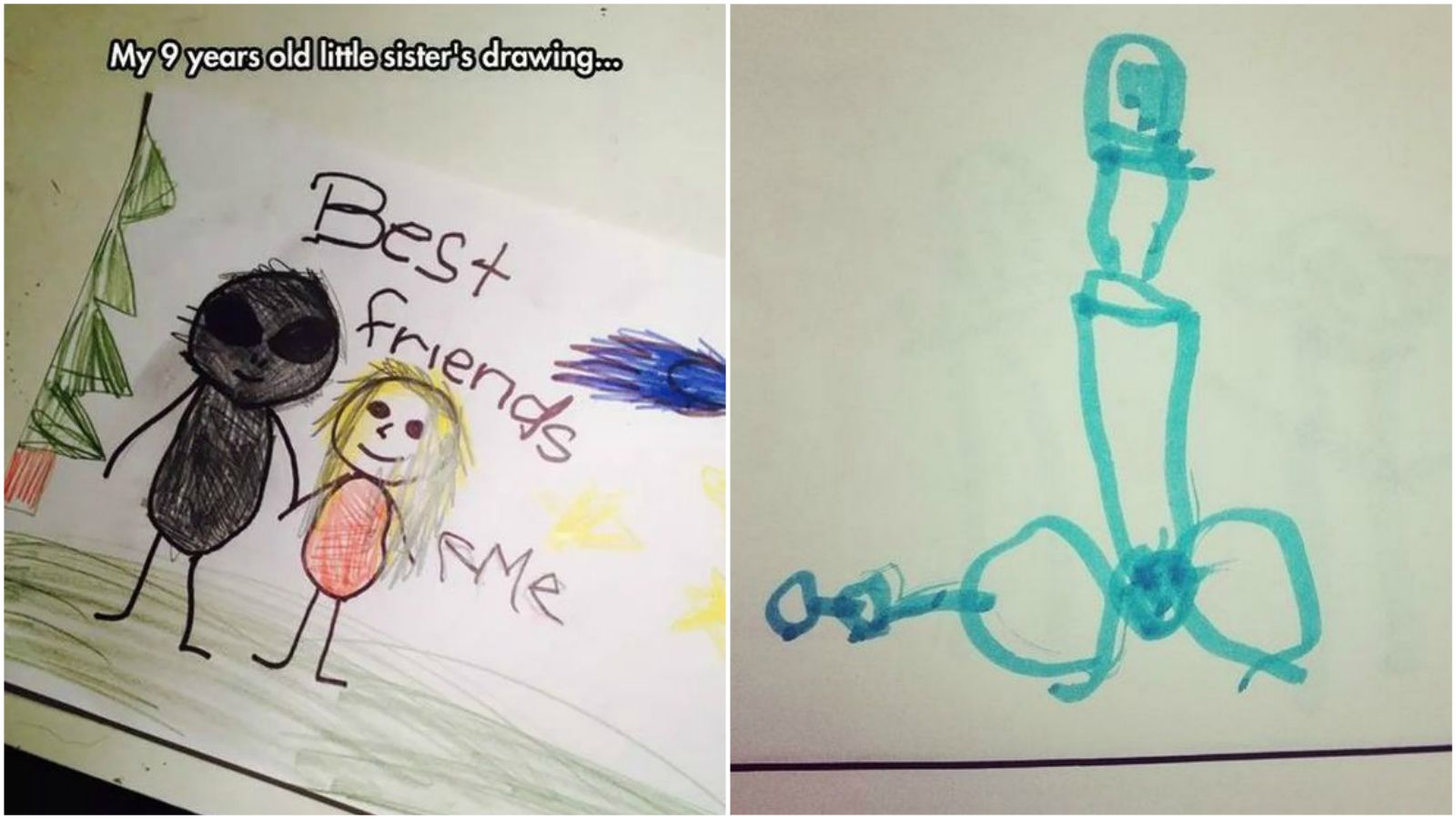 35 Funny Drawings from Kids. They're Hilariously Inappropriate but #3 Really Had Me LOL.