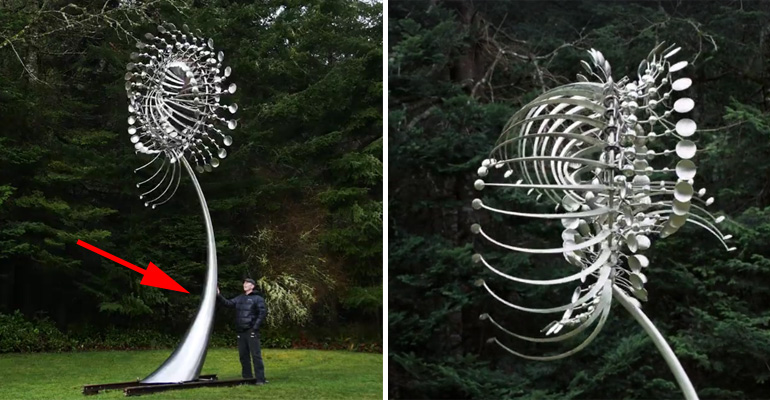 He Creates Gigantic Metal Sculptures. But, When the Wind Starts Blowing, I Can't Believe My Eyes