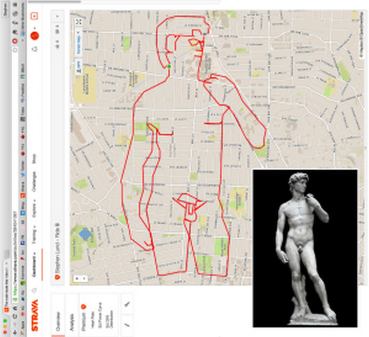 Sketchbook of a GPS Arist - Michelangelo's Renaissance masterpiece...the statue of David.
