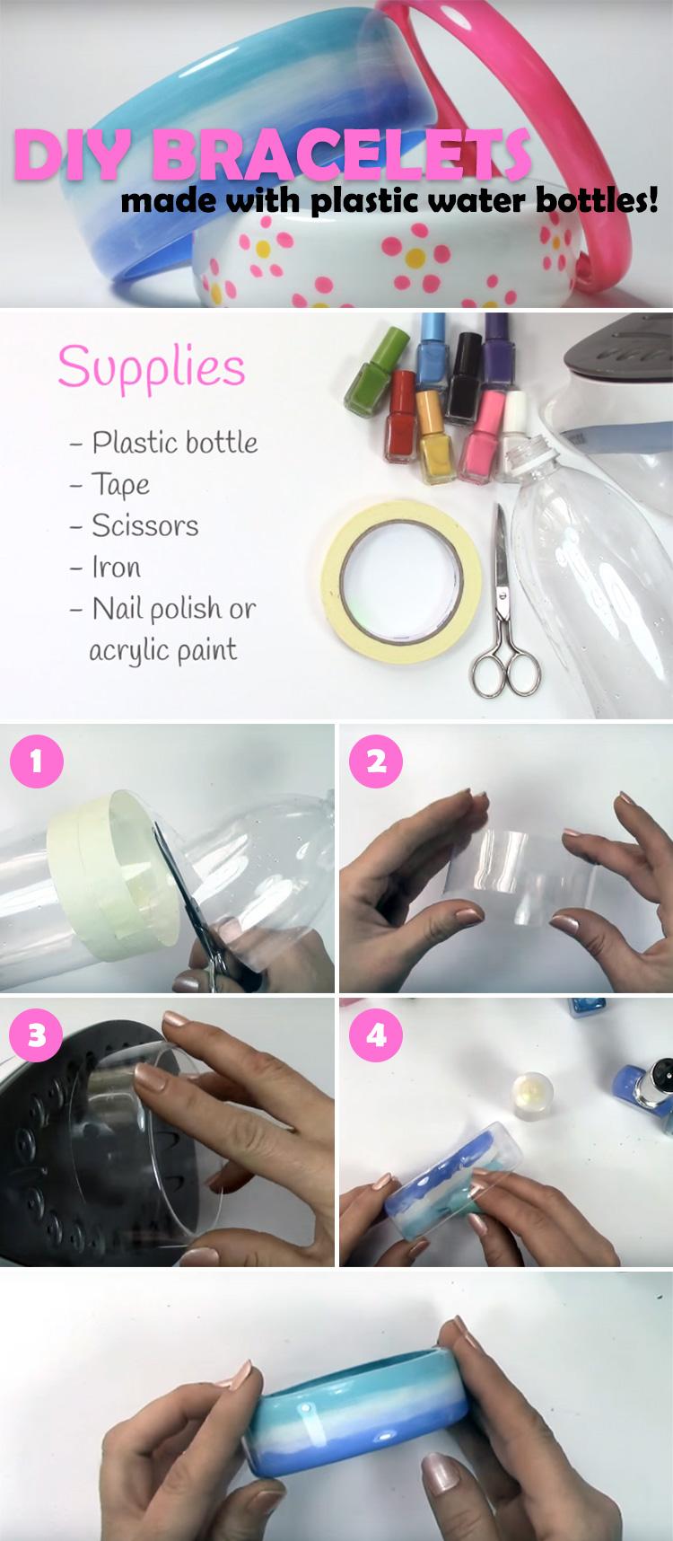 Diy Water Bottle Diy Bracelets Made By Upcycling Plastic Water Bottles