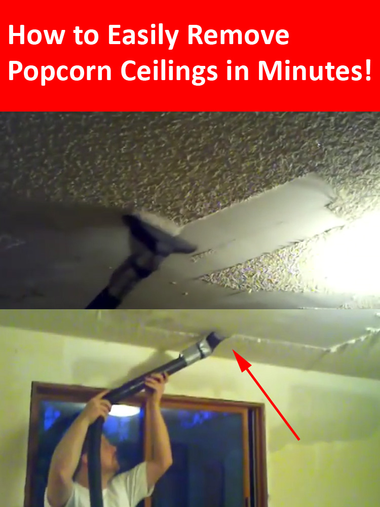 How to remove popcorn ceilings in less than 10 minutes for How to remove popcorn ceiling without water