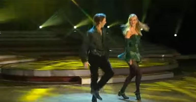 Irish Dance Group Perform Irish Step Dancing.