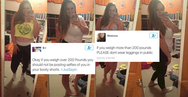People Told Her Not to Wear Leggings Because She Was Too Fat. Then, She Posted These 4 Photos…