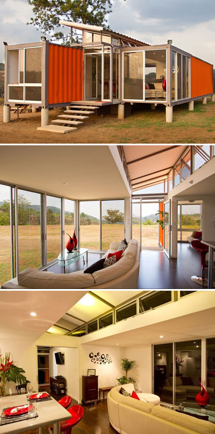 10 Gorgeous Shipping Container Homes - Containers of Hopehome in San Jose, Costa Rica designed byBenjamin Garcia Saxe with a budget of $40,000.