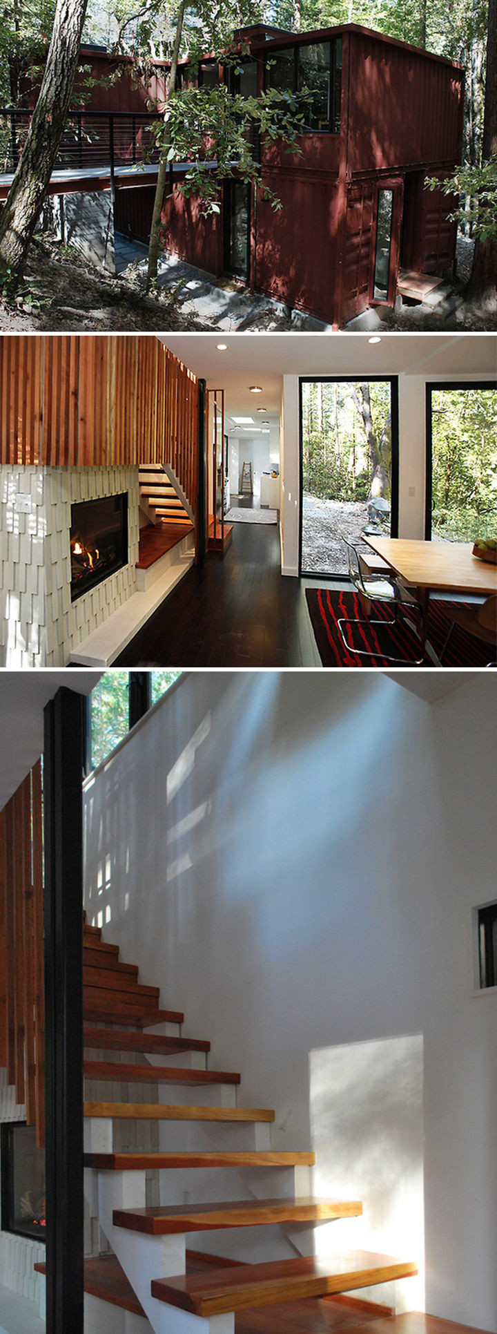 10 Gorgeous Shipping Container Homes - Six Oaks was designed by David Fenster of Modulus and features 1,200 square feet of living space.