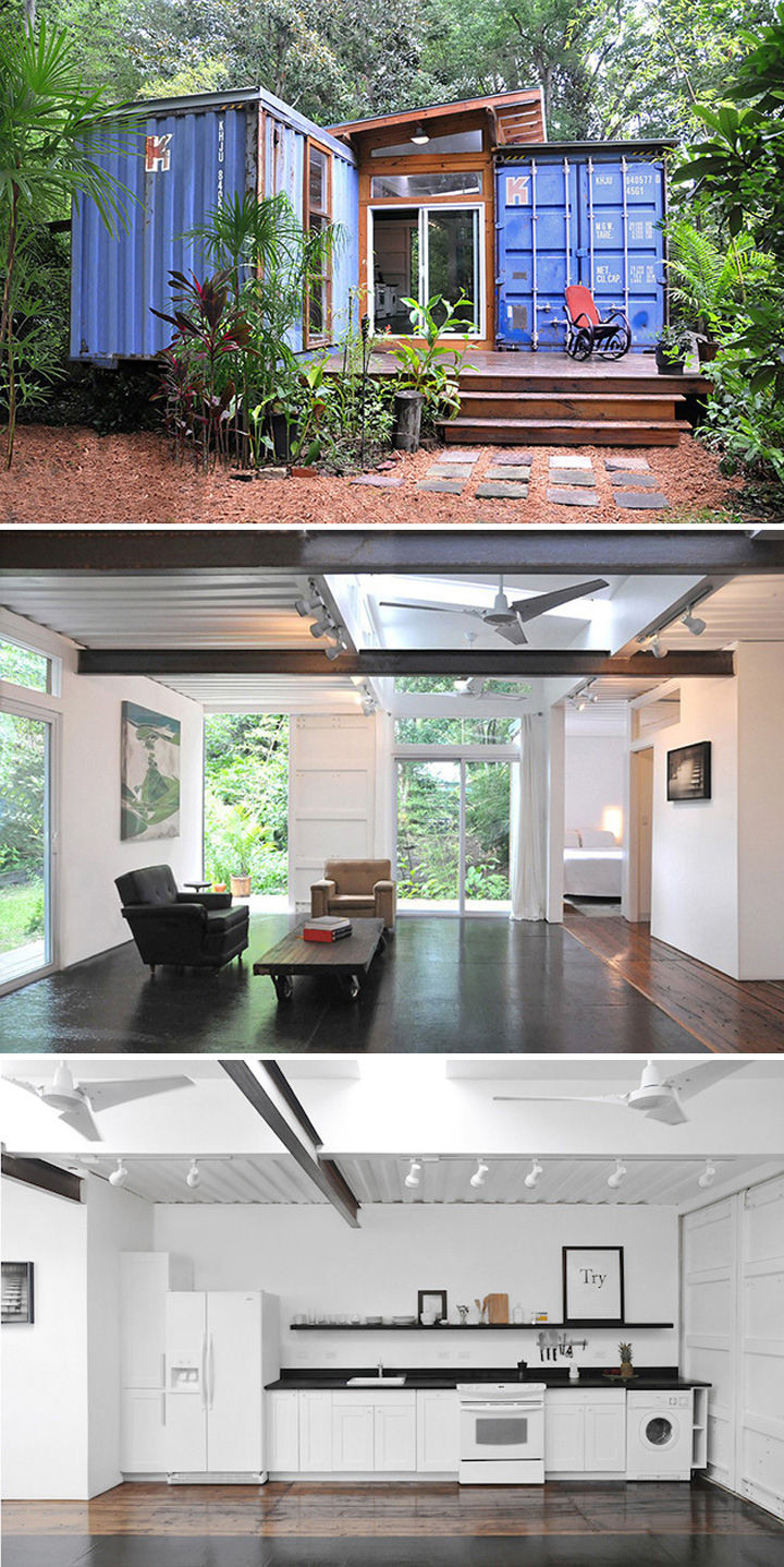 10 Gorgeous Shipping Container Homes - TheSavannahWoodsshipping container home in Savannah, Georgia and was designed byPrice Street Projects.