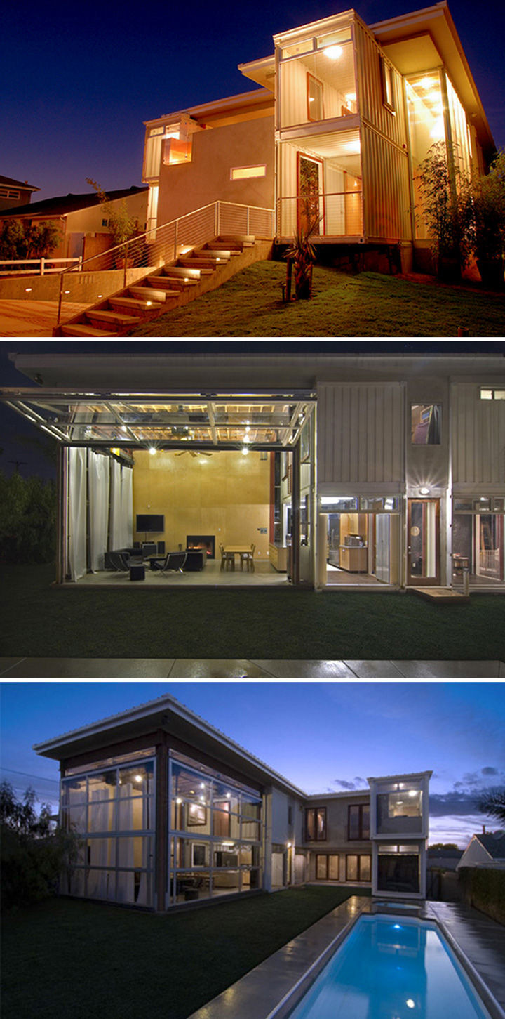 10 Gorgeous Shipping Container Homes - Redondo Beach house designed in Los Angeles was designed and built byDeMaria Design and Logical Homes.