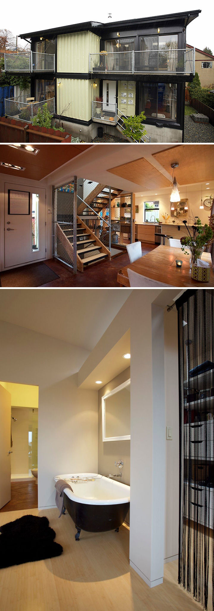 1,920 square foot Zigloo shipping container home built in Canada and designed byKeith Dewey