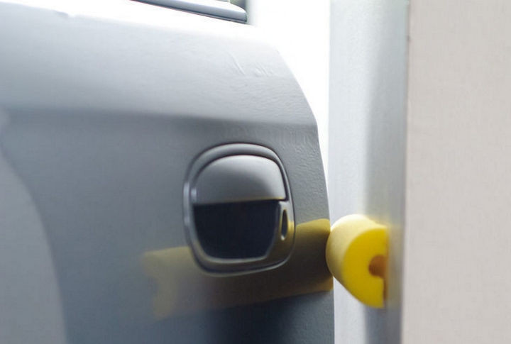 12+ Pool Noodle Hacks - Prevent your car doors from getting scratches.