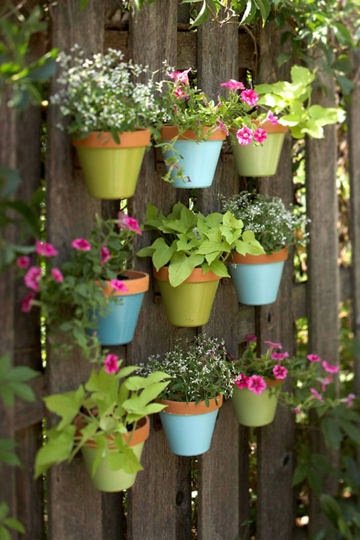 14 DIY Gardening Tips & Projects - Make a colorful vertical garden.