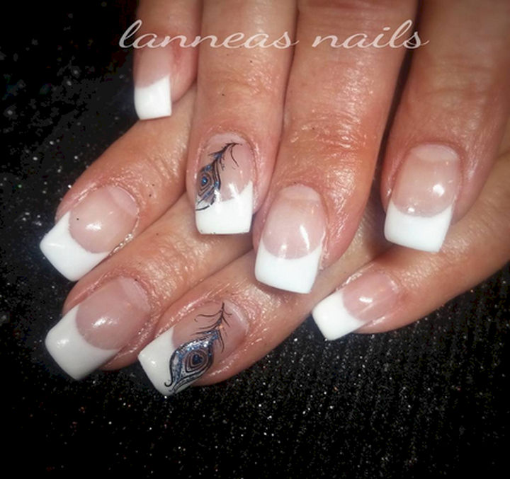 18 feather nail art designs that look amazing 18 feather nail art designs show off some style with peacock feathers prinsesfo Image collections