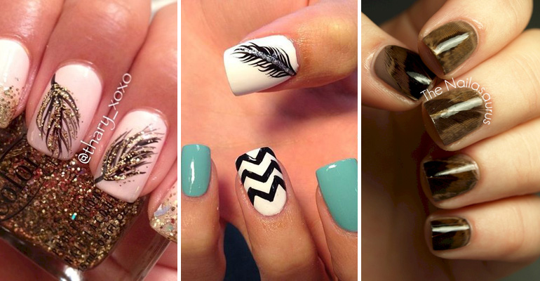 - 18 Feather Nail Art Designs That Look Amazing