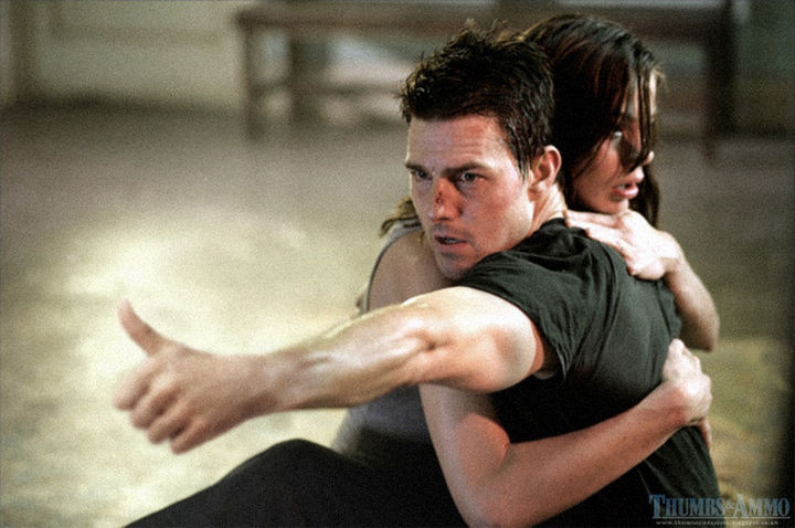 23 Movie Action Scenes Where Guns Were Replaced with a Thumbs-Up - 'Mission Impossible 3'
