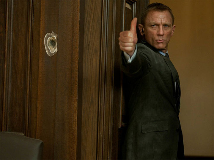 23 Movie Action Scenes Where Guns Were Replaced with a Thumbs-Up - 'James Bond'