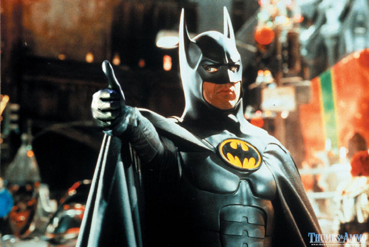 23 Movie Action Scenes Where Guns Were Replaced with a Thumbs-Up - 'Batman Returns'