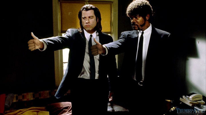 23 Movie Action Scenes Where Guns Were Replaced with a Thumbs-Up - 'Pulp Fiction'