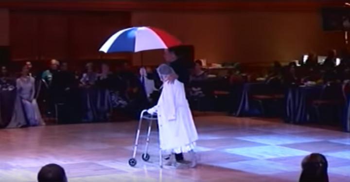 94-Year-Old Senior Mathilda Klein Ballroom Dances.