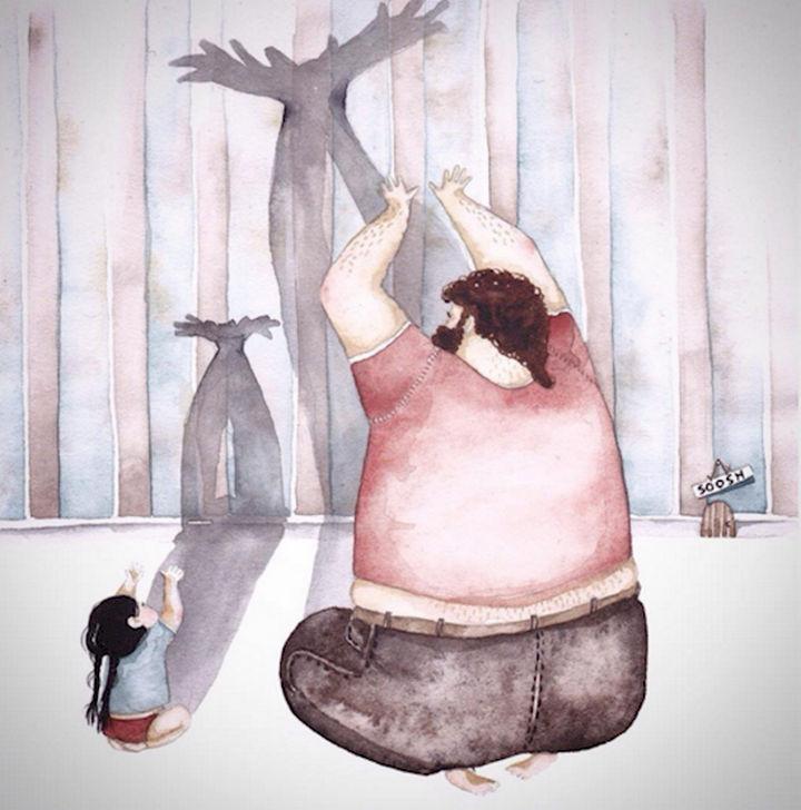 Big moose. little moose by Snezhana Soosh.