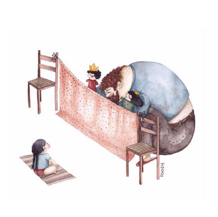 She loves puppet theater by Snezhana Soosh.