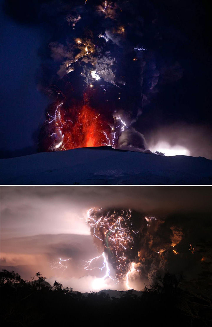 10 Amazing Nature Pictures - Lightning storms during volcanic eruptions.