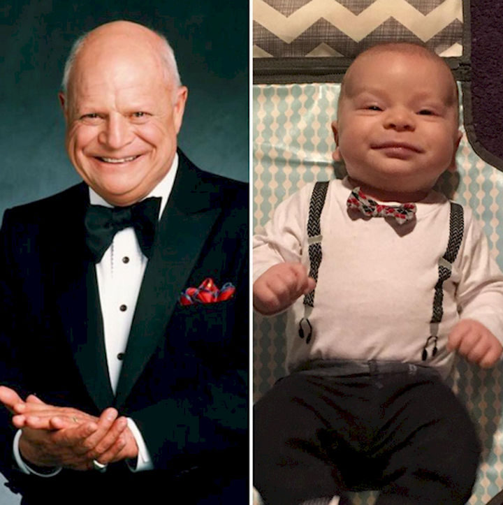 13 Babies That Resemble Celebrities or Something Else - This adorable little baby keeps on smiling like Mr. Don Rickles himself.