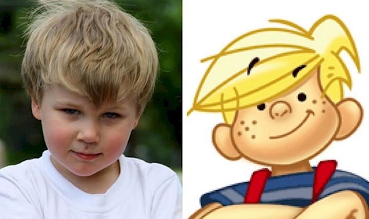 13 Babies That Resemble Celebrities or Something Else - This young boy has Dennis the Menace written all over him. Adorable :)