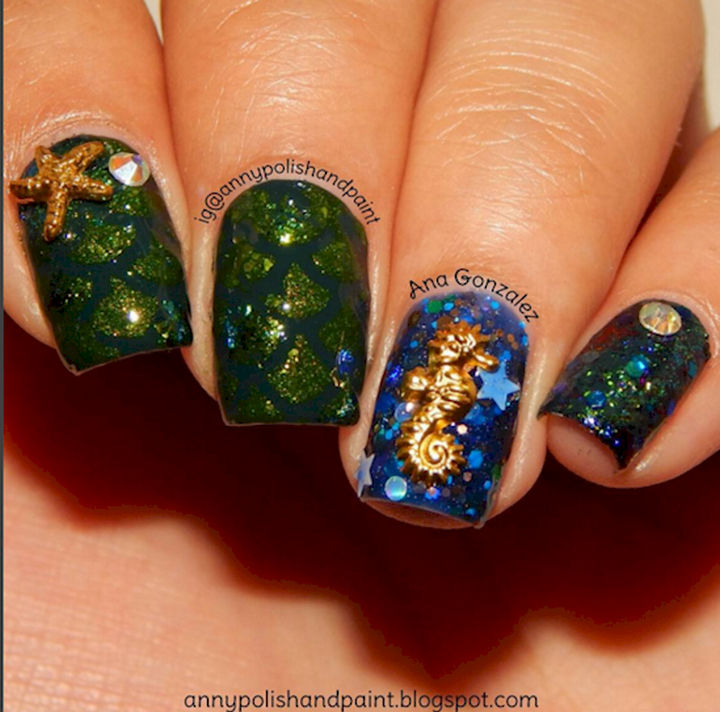 Mermaid Nail Art Adorable: 13 Mermaid Nails That Are As Beautiful As The Ocean