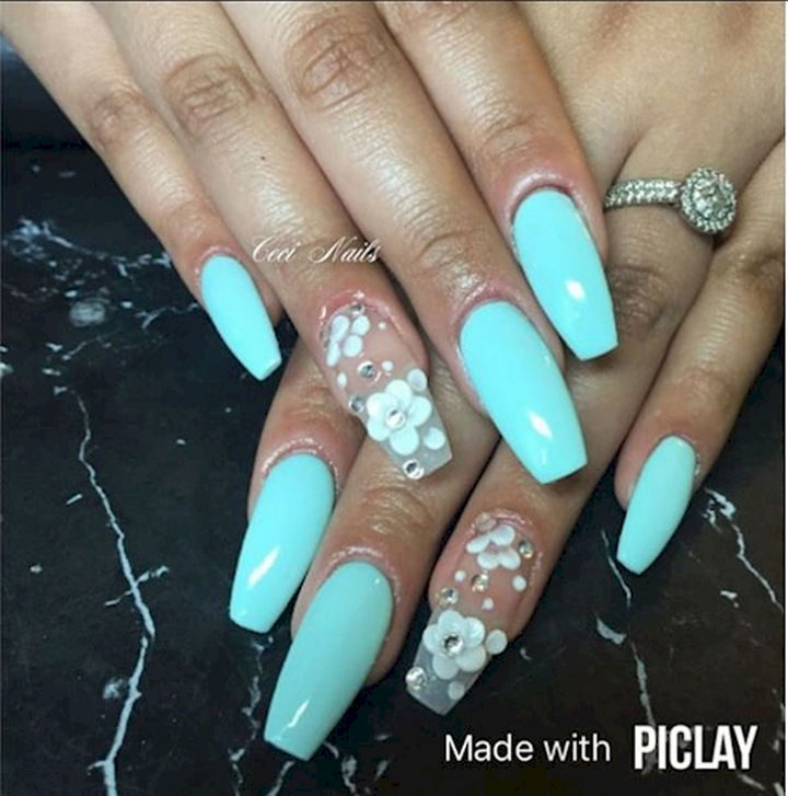 Awesome spring nail art design.