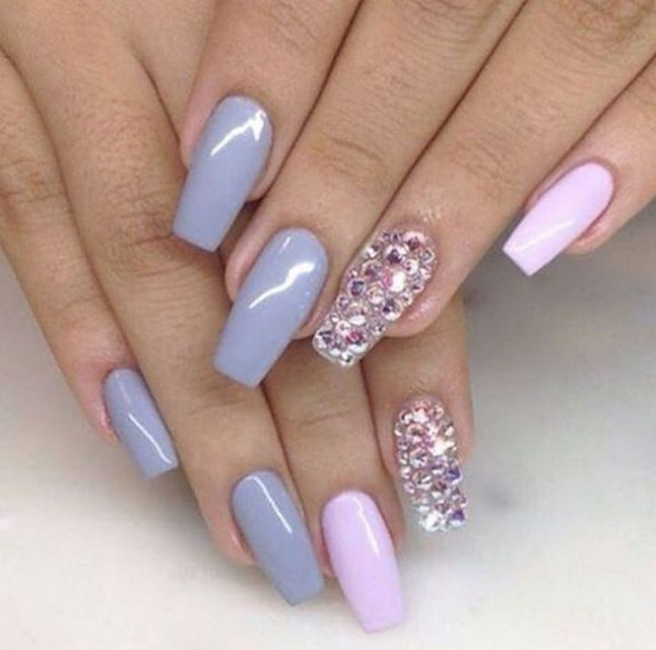 Beautiful orchid shades with pink accents.