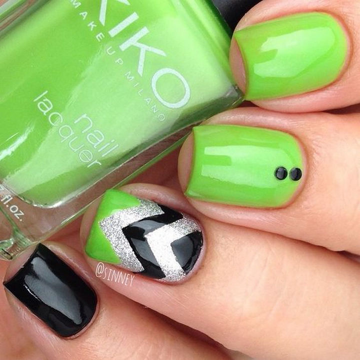 17 Chevron Nails Will Have You Saying Bye to Boring Nails
