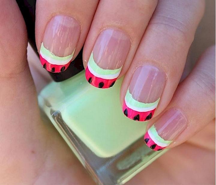 17 Fruit Nails - Juicy watermelon nails.