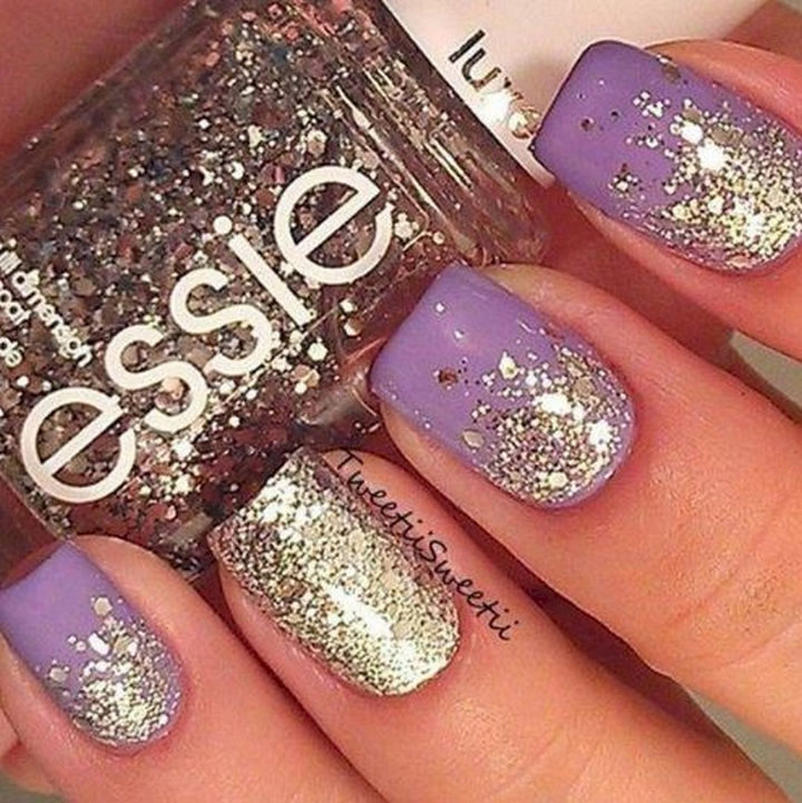 19 Purple Nails - Shining bright like a diamond.