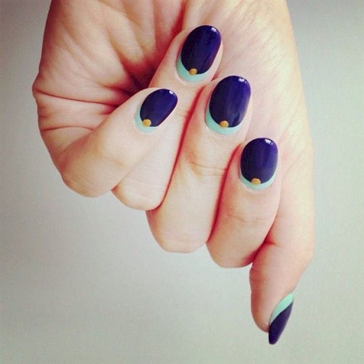 19 Purple Nails - Beautiful reverse French manicure.