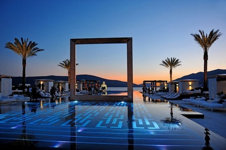 35 Epic Swimming Pools From Around the World - Purobeach Porto Montenegro's which sits in Montenegro's Bay of Kotor.