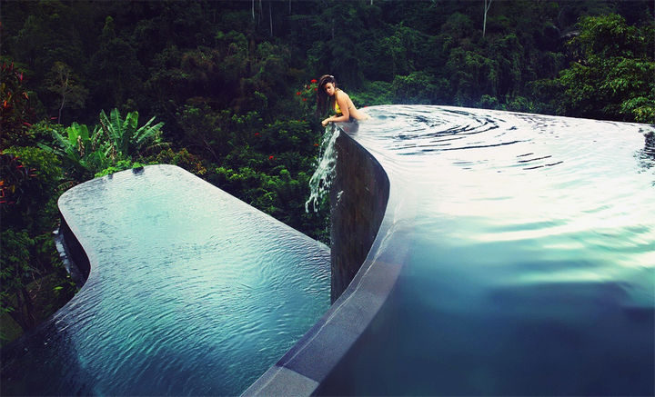 35 Epic Swimming Pools From Around the World - Hanging Gardens Ubud Hotel in Bali, Indonesia.