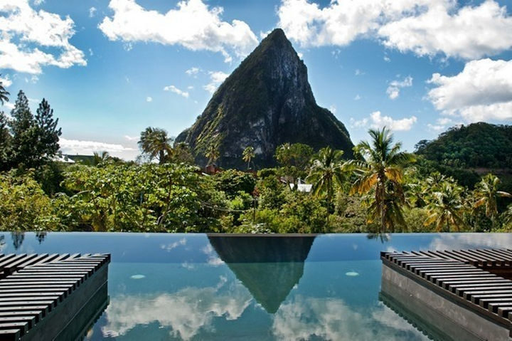35 Epic Swimming Pools From Around the World - Hotel Chocolat in St. Lucia.