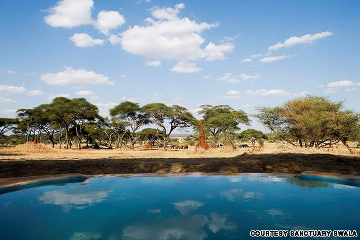35 Epic Swimming Pools From Around the World - Sanctuary Swala's pool in Tanzania, Africa.